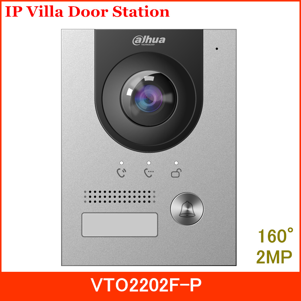 Dahua New IP Villa Door Station VTO2202F-P 2MP CMOS Camera 160° Angle Of View Night Vision And Voice Indicator Replace VTO2202F