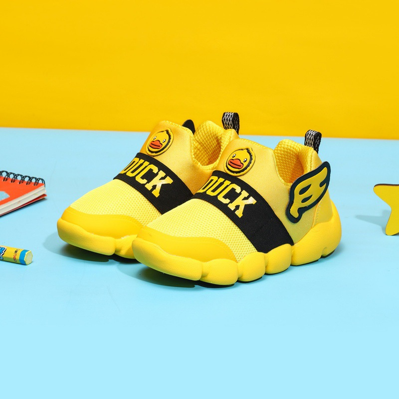B. Duck Small Yellow Duck Spring And Autumn Shoe Upper Wing Embellishment Fashion BOY'S Shoes BOY'S Little Kids' Casual Shoes