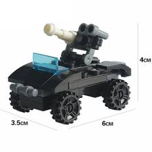 Technic Series Black Tank Building Blocks Models Action Figures Kids Toy Army Toys & Hobbies Birthday Gifts Compatible City Sets(China)
