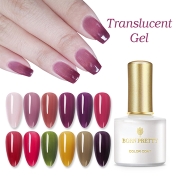 BORN PRETTY 6ml Translucent Gel Nail Polish Purple White Pink Yellow Jelly Gel Soak Off Nail UV Gel Long Lasting Varnish недорого