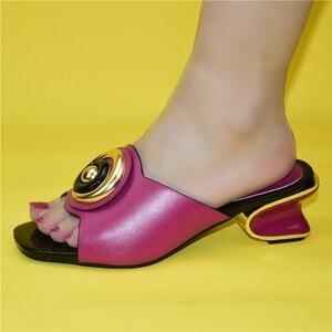 Image 5 - Mode Frauen Mitte Absätzen mit Flach Mund Quadratischen Kopf Schuhe Damen Hausschuhe Sexy Frau Schuh Sandalen 2021 Sexy Plattform pumpen