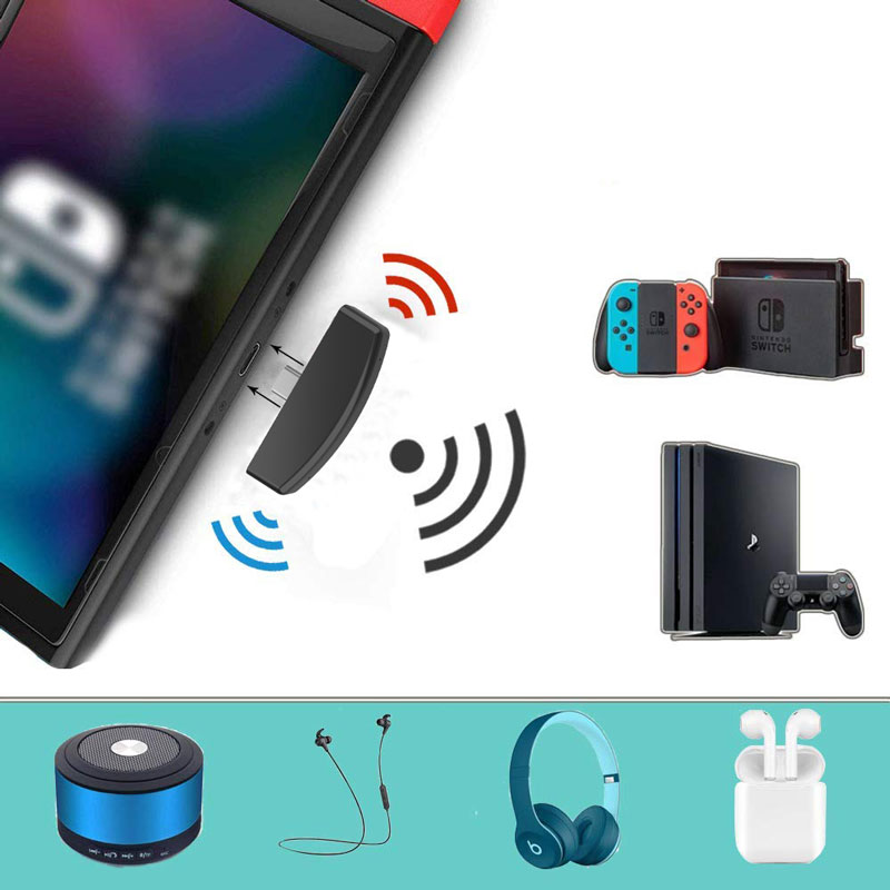 Wireless Audio Receiver Adapter For Nintend Switch Switch Lite PS4 PS3 PC Bluetooth Headset Converter Support Microphone