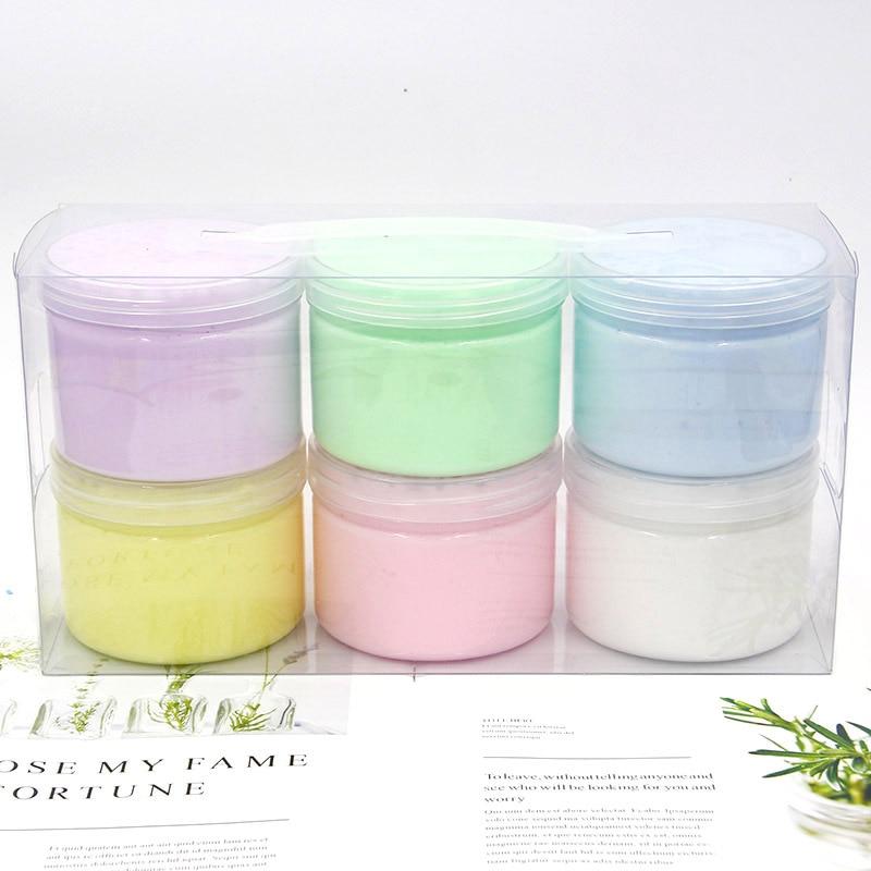 1PC Bubble Gum Fluffy Slime Soft Clay Diy Toy Foam Rubber Plasticine Cloud Slime Supplies Glue For Decompression Toys Playdough