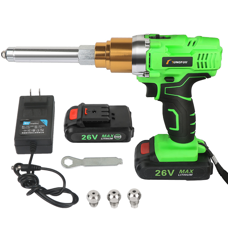 Pistola de remaches 26v 3000mAh portátil inalámbrico recargable eléctrico soporte 2,4mm-5,0mm remache con herramienta de remachado de luz LED