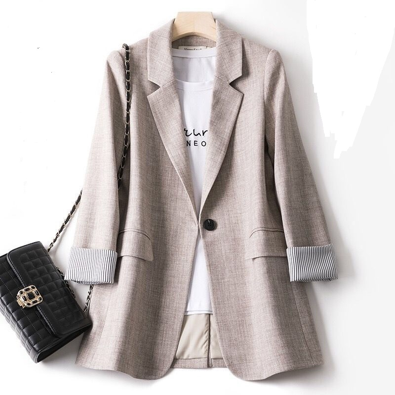 2020 New Plus Size Fashion Business Work Suits Women Work Jacket Office Ladies Long Sleeve Casual Pockets Blazer Suit Coat
