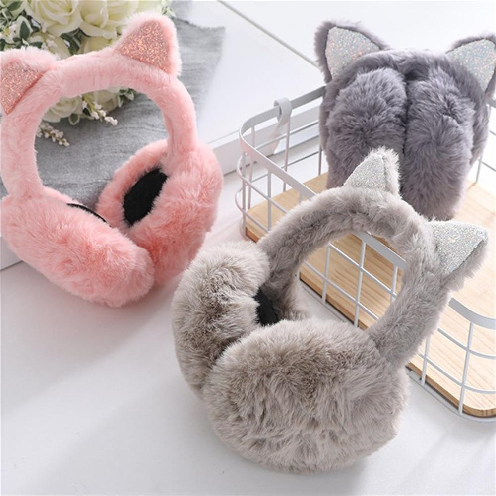 Cartoon Cat Ears Ear Muffs Winter Ears Warmer Adjustable Earmuffs Меховые наушники для согрева ушей Head Warmer #TN28