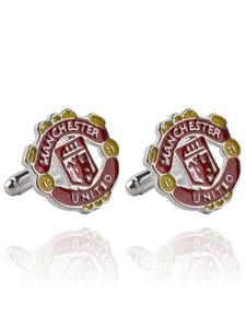 Cufflinks Manchester United Football-Team-Logo Sleeves Business Men's The And United-States