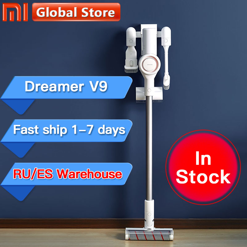 Xiaomi Dreame V9 Handheld Cordless Vacuum Cleaner Portable Wireless Cyclone Filter Dust Collector home  Xiaomi Mi Carpet Sweep-in Vacuum Cleaners from Home Appliances
