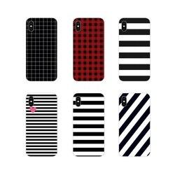 Аксессуары чехол для телефона Полосатый Черный Белый для Xiaomi Mi4 Mi5 Mi5S Mi6 Mi A1 A2 A3 5X 6X 8 CC 9 T Lite SE Pro