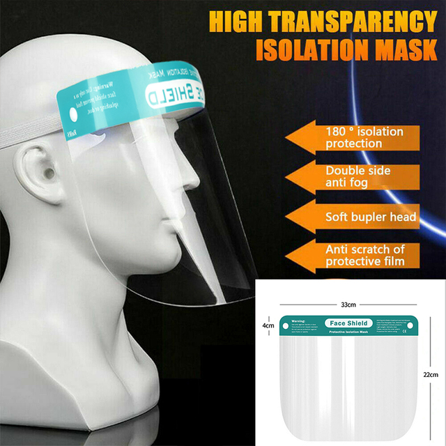 HOT HD Clear Anti-Saliva Mask Transparent Safety Faces Shields Screen Spare Visors Head Face Respiratory Tract Masques 3