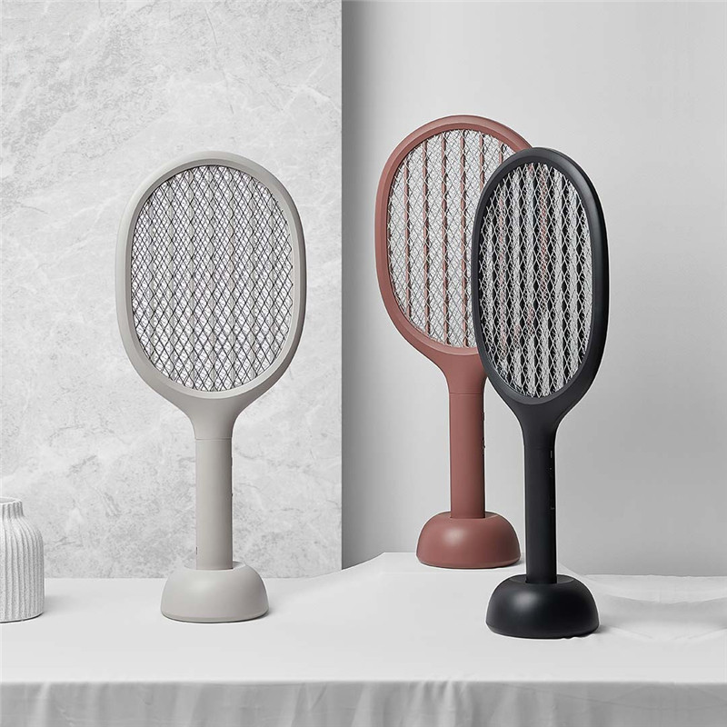 Solove 360nm UV Light Double Size Anti-electric Shock Net USB Charging Mosquito Dispeller Smart Electric Mosquito Swatter