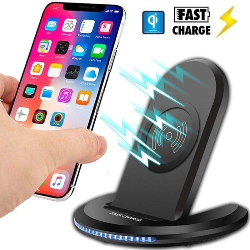 Chargeur Rapide sans fil Chargeur 10W pour Samsung Galaxy Note 10 S10 2 en 1 QI Charge Rapide bureau universel Ladowarka Indukcyjna
