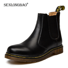 New Autumn Winter Men Shoes Chelsea Boots Genuine Leather Ankle