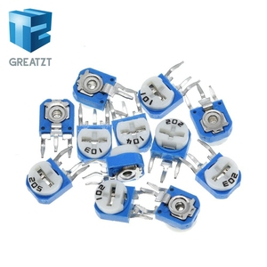 GREATZT10pcs Rm065 Rm-065 100 200 500 1k 2k 5k 10k 20k 50k 100k 200k 500k 1m Ohm Trimpot Trimmer Potentiometer Variable Resistor