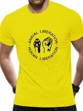 Animal liberación humana unissex t camisa retro camiseta