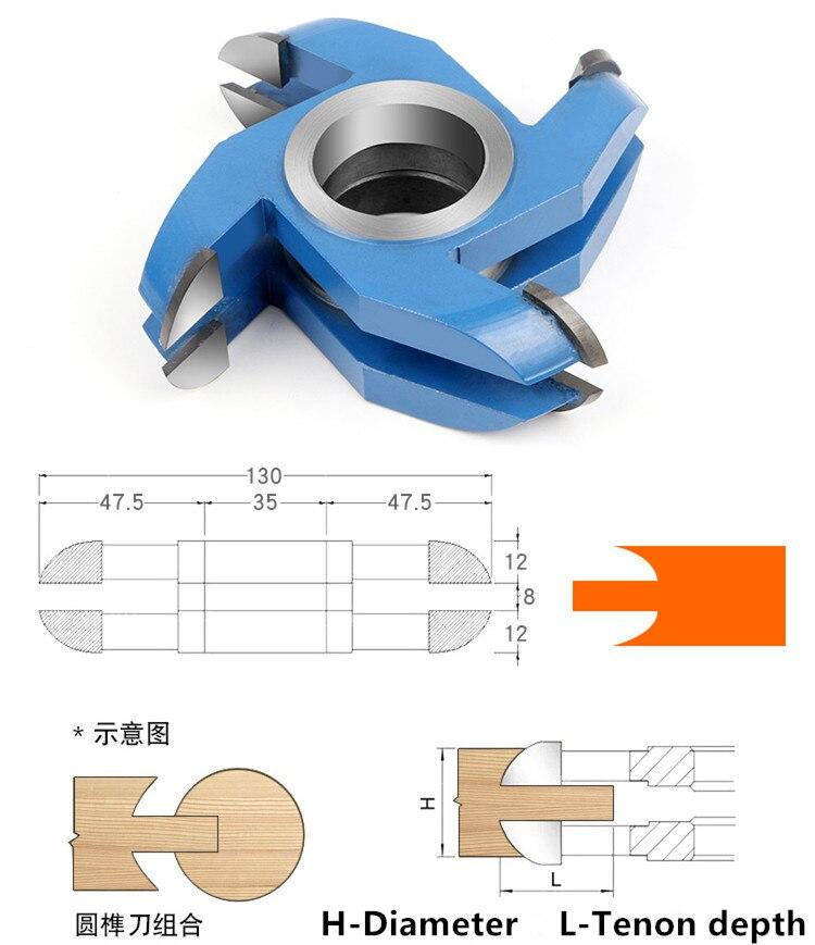 combinação circular cortador de trituração