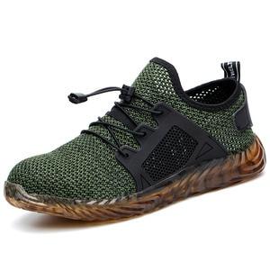 Неразрушимая обувь для мужчин, защитные ботинки со стальным носком, рабочие кроссовки с защитой от проколов, мужская обувь размера плюс 47 48