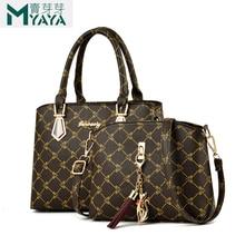 MAIYAYA Women Bags Set 2 Pcs Leather Handbag Women Tote Bag
