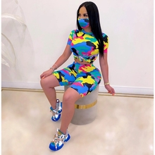 Plus Size Two Piece Short Sets for Women Matching Set Outfit