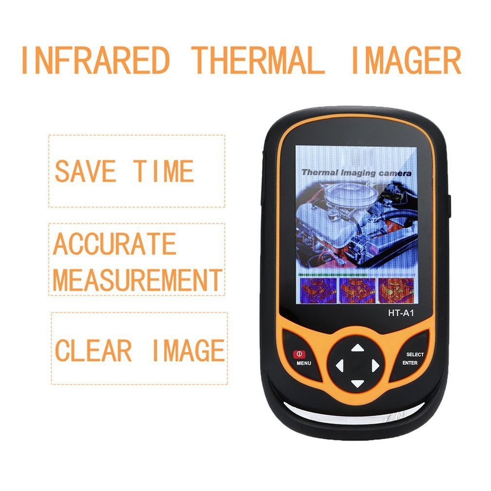 3.2 Inch Full View TFT Screen Infrared Thermometer Thermal Imager 0.3MP Camera Detector For Outdoor Hunting YK-A1