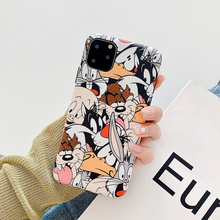 Cute cartoon Rabbit Wolf dog phone case For iphone 11 pro max 6 6s 7 8 plus soft silicon cover For iphone XS MAX X XR capa coque for iphone 11 pro max cute pink minnie case for iphone 7 6 6s 8 plus xs max xr x silicone soft phone cover cases back capa coque