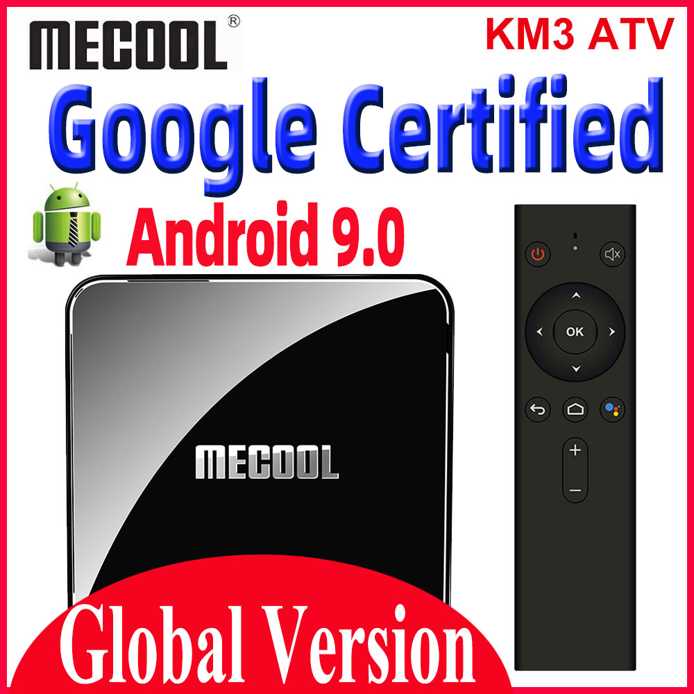 <font><b>Mecool</b></font> KM3 ATV Google Certified Smart <font><b>TV</b></font> <font><b>Box</b></font> <font><b>Android</b></font> 9.0 <font><b>TV</b></font> <font><b>Box</b></font> <font><b>S905x2</b></font> Double wifi with 4K HDR <font><b>Android</b></font> <font><b>TV</b></font> Streaming Media Player image