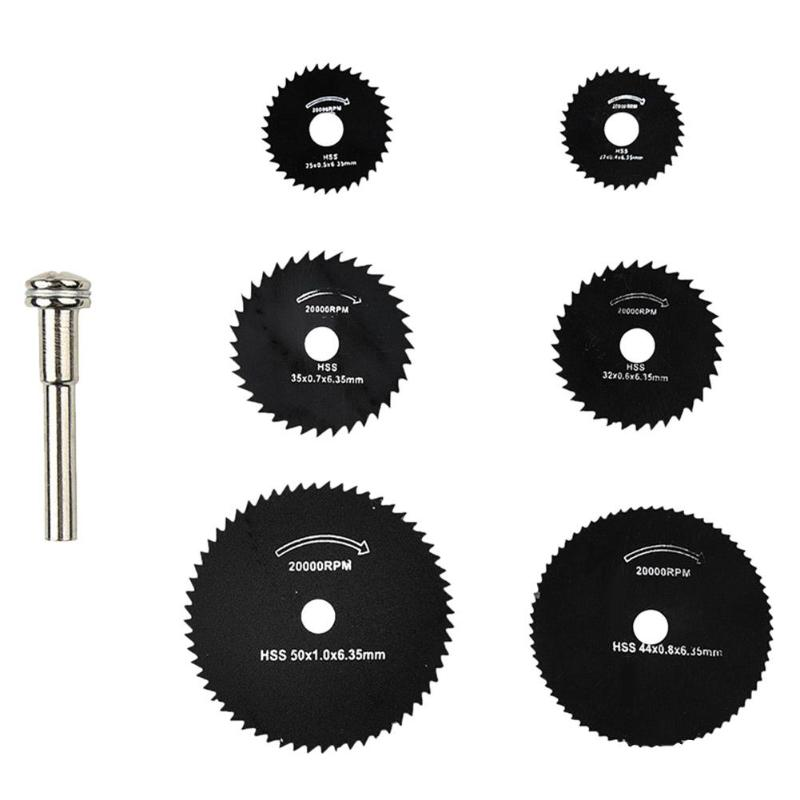 7pcs Round Saw Blade HSS Steel Woodworking Cutting Tipped Wood Cutting Disc
