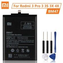 XiaoMi Originale Batteria BM47 Per Xiaomi Redmi 3 3S 3X 4X Redmi3 Pro Redrice Hongmi 100% Nuovo Autentico Del Telefono batteria 4000mAh
