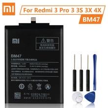 XiaoMi orijinal pil BM47 Xiaomi Redmi için 3 3S 3X 4X Redmi3 Pro Redrice Hongmi 100% yeni otantik telefon pil 4000mAh