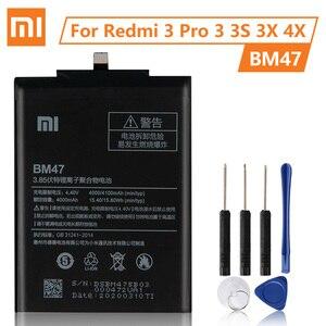 Image 1 - XiaomiオリジナルバッテリーBM47 xiaomi redmi 3 3s 3X 4X Redmi3 プロredriceコリア 100% 新しい本物電話バッテリー 4000mah