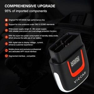 Image 2 - Viecar VP004 VP002 ELM327 V 2,2 Auto Diagnose Auto Werkzeug WIFI ULME 327 OBD2 Elm327 OBD USB Scanner Code Reader für Android/IOS