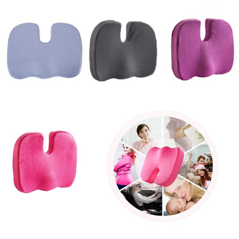 Cojín ortopédico de espuma viscoelástica para asiento en U, cojín de masaje para silla de coche y oficina, protección saludable