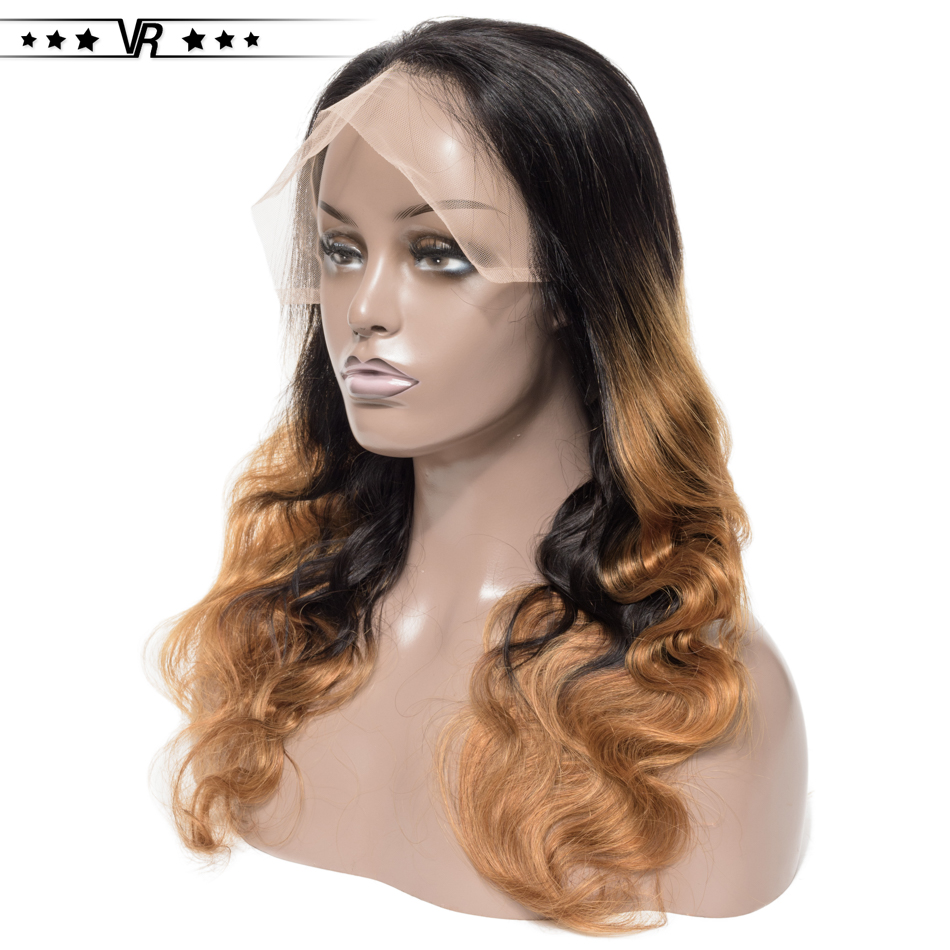 VR Star Ombre Lace Front Human Hair Wigs 100% Brazilian Hair 1B/27 Color Pre Plucked Lace Front Wig For Black Women