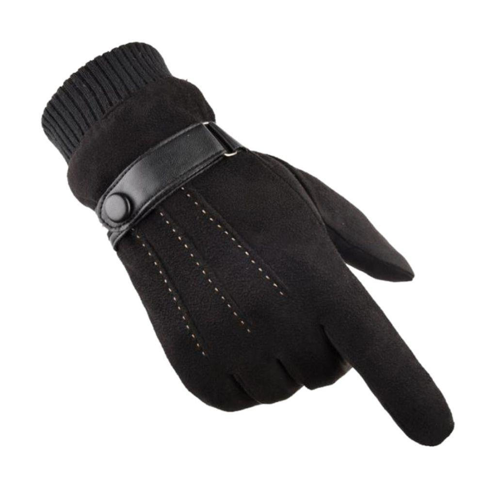 Men's Gloves Warm Windproof Thick Fashion Casual Riding Winter Outdoor Mountaineering Cycling Gloves