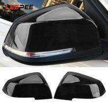 Leepee carro espelho retrovisor lateral capa caps para bmw f30 f31 f20 f21 f22 f23 gt f34 f32 coupe f33 convertible f36 gran e84 x1 i3