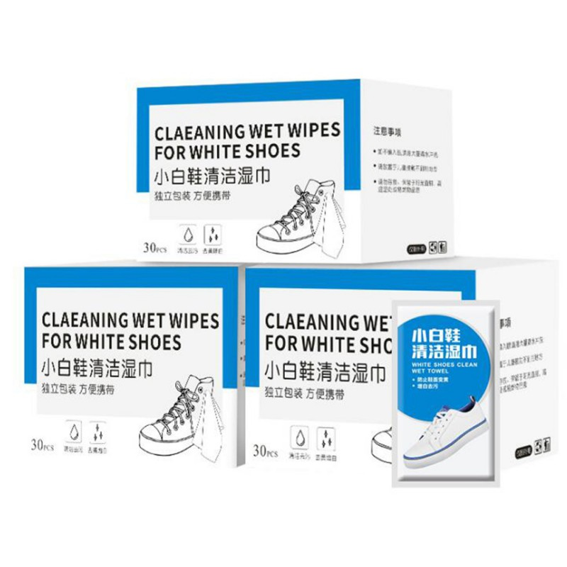 Disposable Disinfection Prep Swap Pad White Shoes Wet Wipe Antiseptic Cleaning Care Clean Wipe Disposable Cleaning Wipes(China)