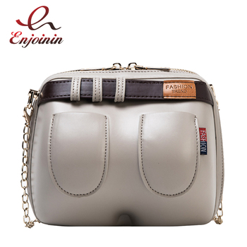 Dazzling and Fun Jeans Design Fashion Women Leather Purses and Handbags Crossbody Bag Female Shoulder Bag Clutch Bag Chain Bag fashion women s clutch bag with engraving and stitching design