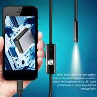 Schwarz 6 LEDs 1 M/7mm Objektiv Mini Endoskop Kamera Wasserdicht Inspektion Endoskop USB Kamera für Android PC telefon & Notebook Gerät