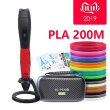 Sell well/3D ручка с PLA нити Дети diy Рисунок пером, 5V 2A usb адаптер переменного тока, oled дисплей креативные образования, можете использовать power bank