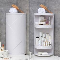 Multi-Função Rotativa Parede de Sucção Prateleira Do Banheiro Rack de Armazenamento de Cozinha Perfuração Livre Grande Caixa De Armazenamento Organizador Banheiro