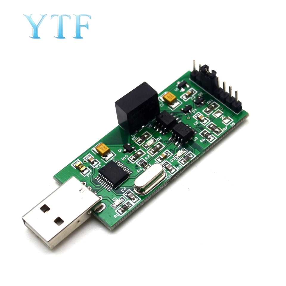 High-speed Isolation USB To TTL Serial Power Supply Optocoupler Isolation 3.3V 5VTTL Output CH340 Module