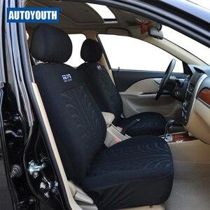 Image 2 - Cubierta de asiento de coche completo Universal, cubierta de asiento para vehículos, color negro, para peugeot