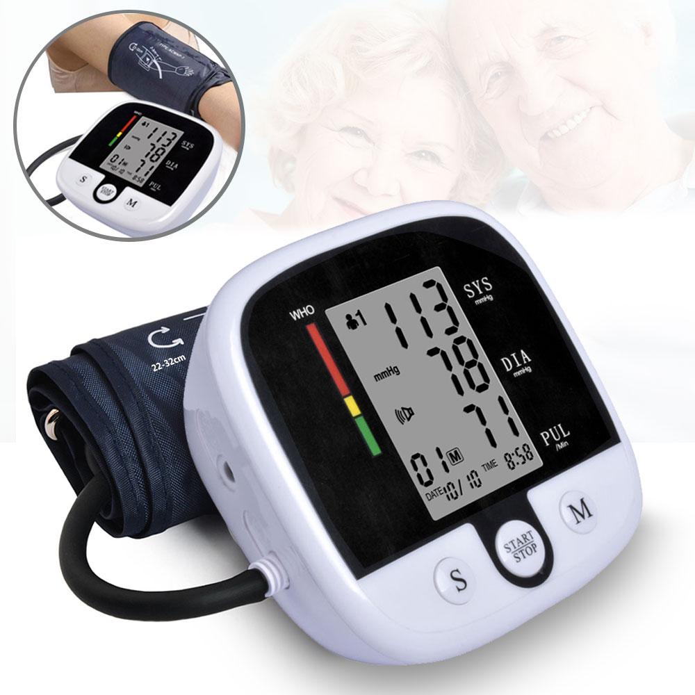 Automatic Digital Upper Arm Blood Pressure Monitor Heart Beat Rate Pulse  Meter Voice Tonometer Sphygmomanometers pulsometer|Blood Pressure| -  AliExpress