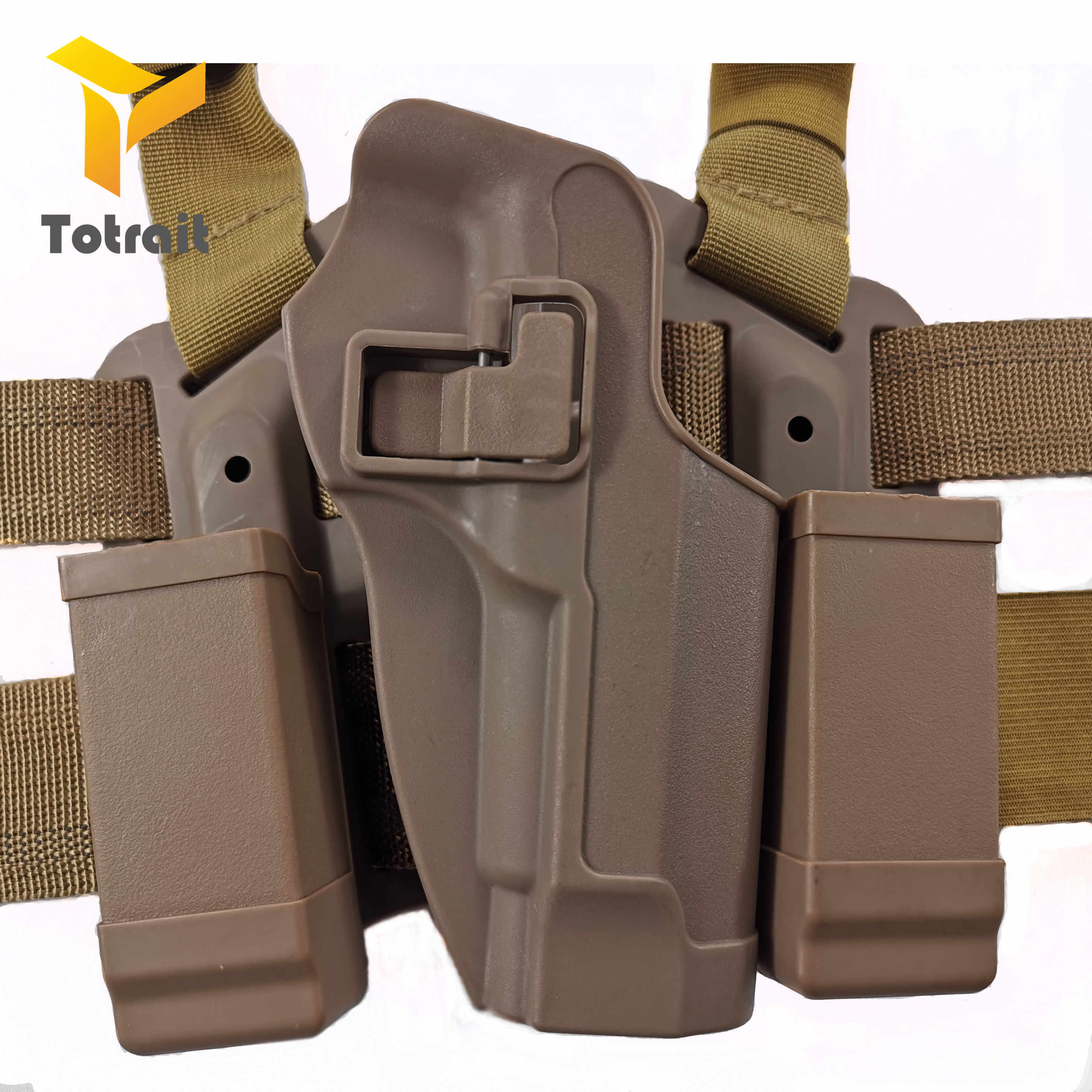 TOtrait Tactical udo noga kabura z podwójnym magazynem CQC M9 nóżka stojak kabura pistolet pistolet kabura dla M9 92 96 czarny