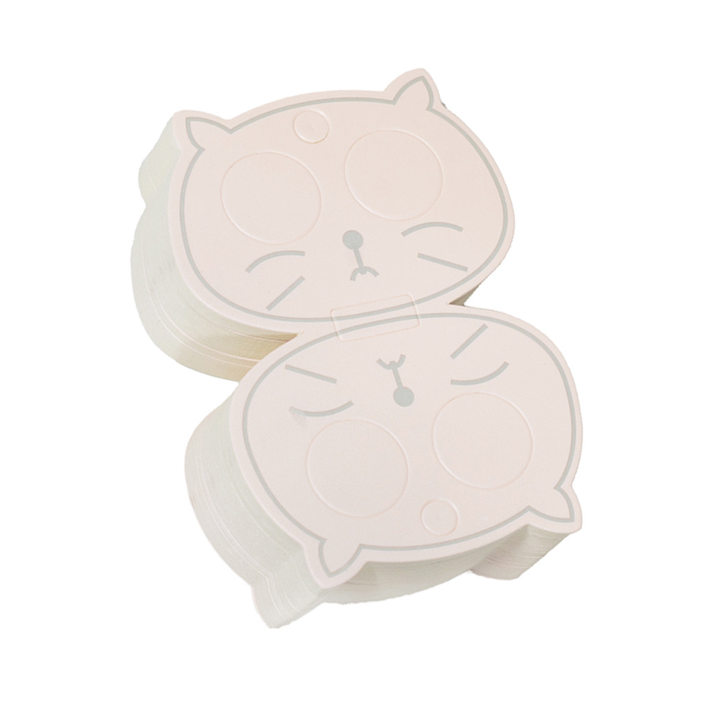 50 Pieces Hollow Cat Jewelry Packaging Cards Paper Hair Clip Cards Hair Accessories
