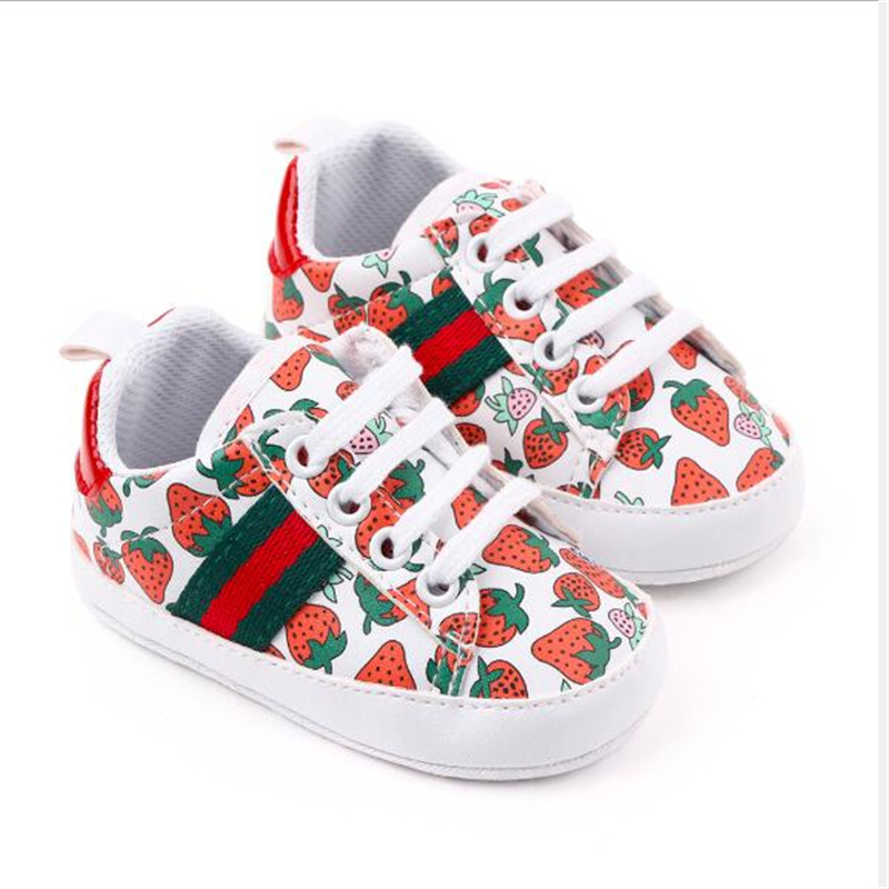 New Spring Baby Shoes Soft Bottom Newborn PU First Walker Antislip Infants Boys Girls Sport Shoes