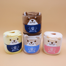 Creative Cartoon Corgi Dog Shiba Inu Plush Toy Paper Towel Tissue Box Gift Home Decoration
