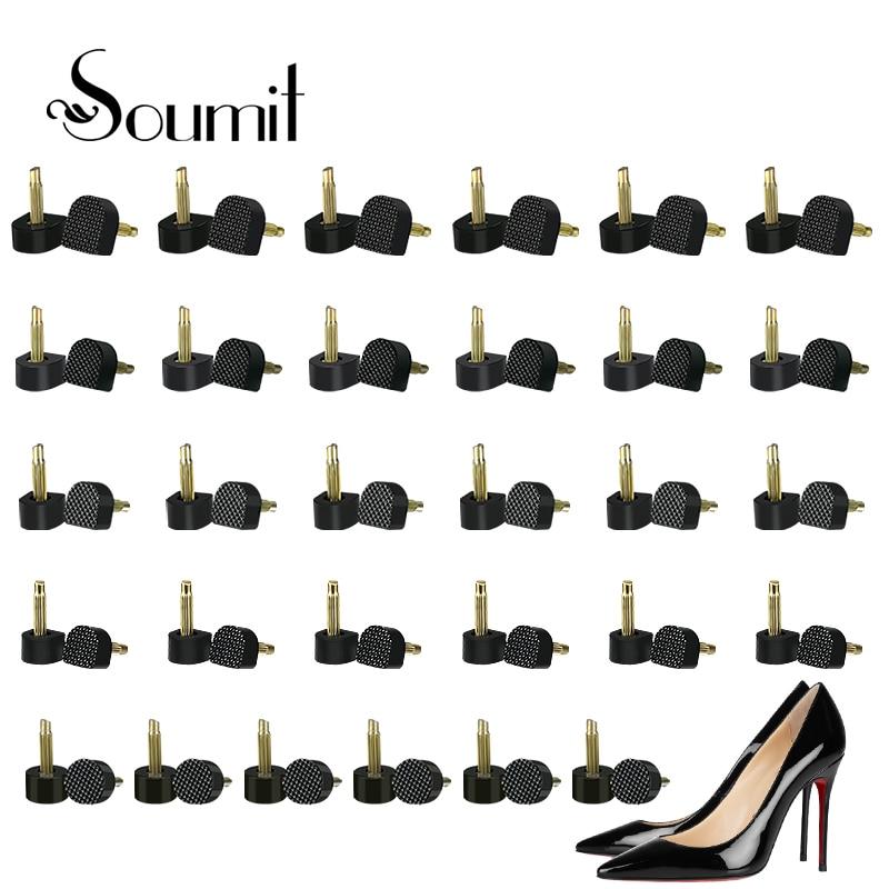 60 шт./компл. шпильки для ремонта туфель на высоком каблуке, женские пуховые подъемники, сменные краны для обуви, женские заглушки на высоком ...