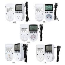 Thermostat numérique multifonction, régulateur de température, prise de sortie avec interrupteur de minuterie, capteur, refroidissement par chauffage, 16A