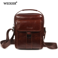 Men's Messenger Bag Leather Material British Fashion Vintage Casual Style High Quality Multi function Large Capacity Design